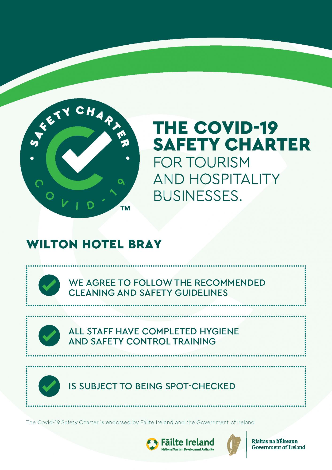 wilton hotel safety charter cert